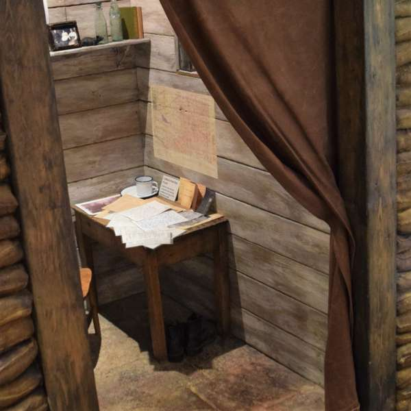 recreated trench dugout